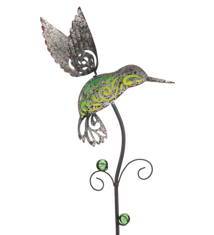 Garden Rustic Stake - Hummingbird