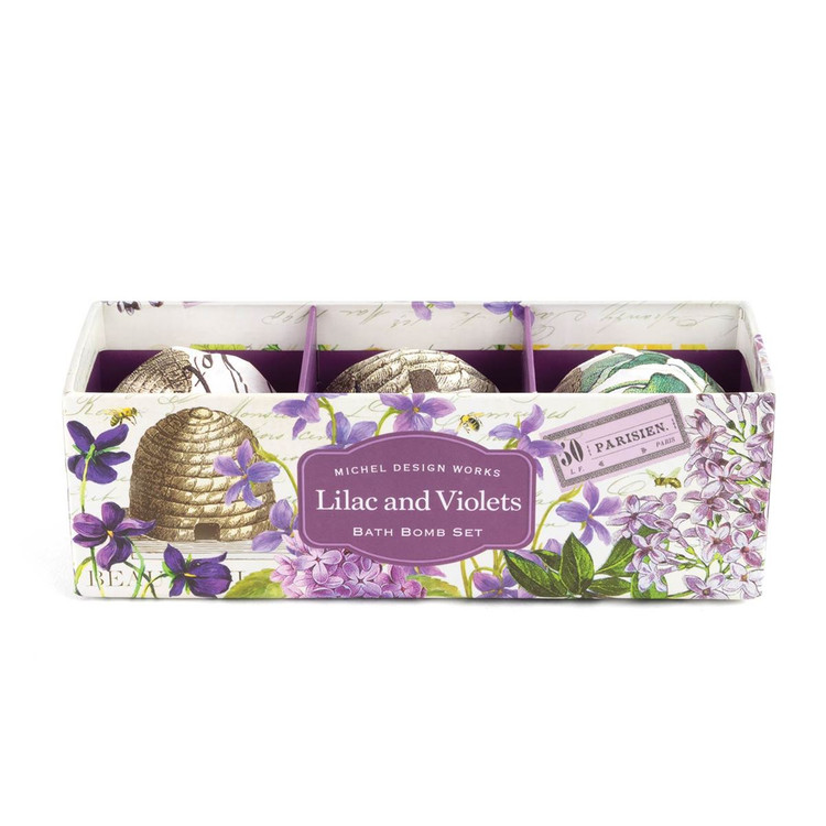 Lilac and Violets Bath Bomb Set