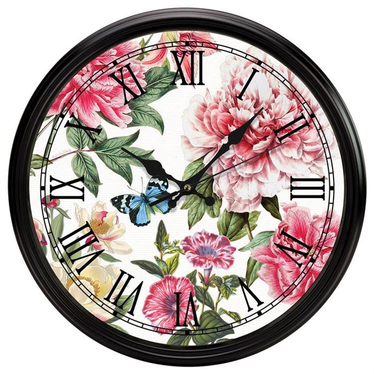 Peony Kitchen Clock