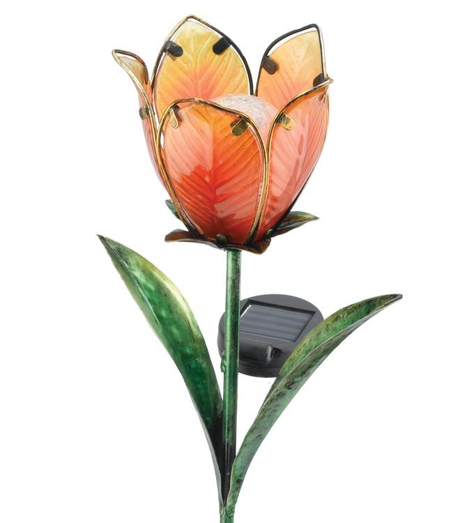 Solar Tulip Stake - Yellow/Orange