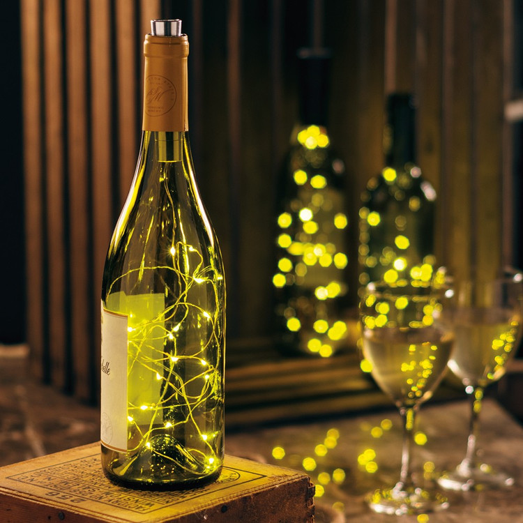 Wine Bottle Lights in Bottle