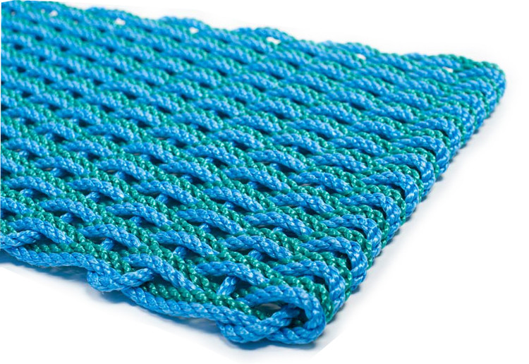 Lobster Rope Doormat - Blue & Teal