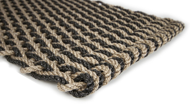 Lobster Rope Doormat - Sand & Charcoal