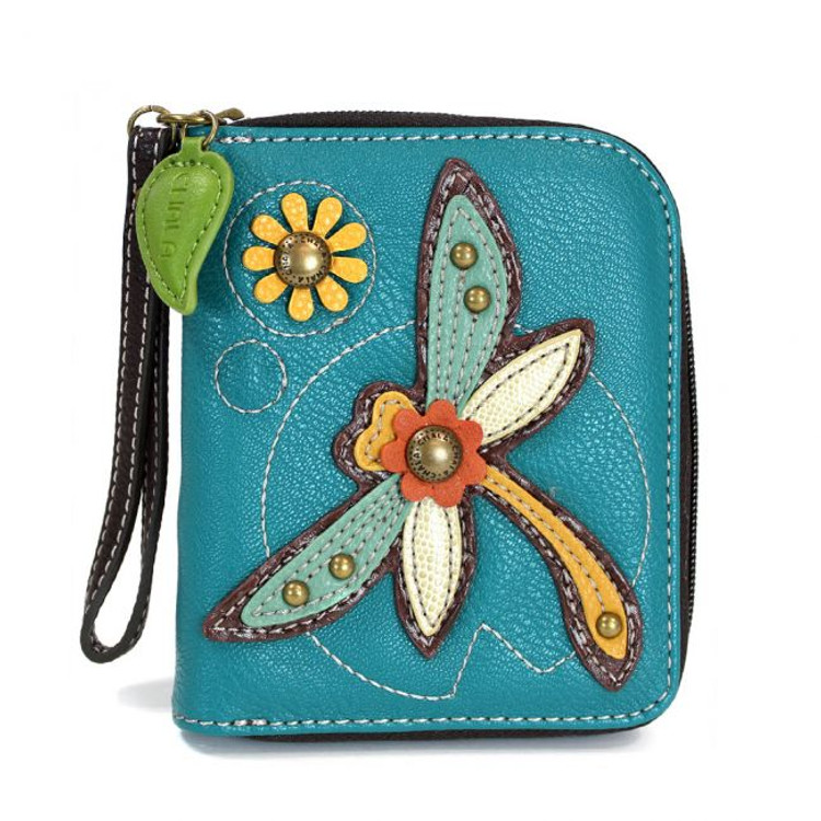 VEGAN LEATHER WALLET WITH DRAGONFLY