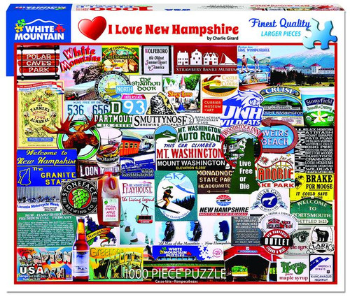 Jigsaw Puzzle 1000 Piece - I Love New Hampshire