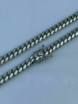 "Miami Cuban Link Chain Real Solid 925 Silver ITALY Heavy 6mm 18-30"" Box Lock"