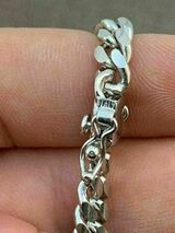 """Miami Cuban Link Chain Real Solid 925 Silver ITALY Heavy 6mm 18-30"""" Box Lock"""