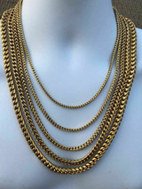 Men's Franco Chain 14k Gold Plated Stainless Steel BEST QUALITY! 3-8mm HEAVY!