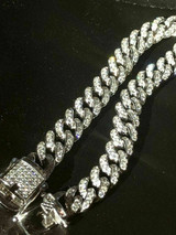 """Mens Miami Cuban Link Bracelet Real Solid 925 Sterling Silver Diamond 9mm 6.5-9"""""""