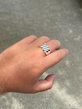 Men's Real Solid 925 Sterling Silver Black Onyx Ring Pinky Anillo Para Hombre