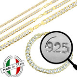 Cuban Link Chain Or Bracelet 14k Gold Over Real Solid 925 Silver Necklace 5-11mm