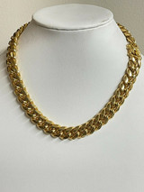 """Miami Cuban CHOKER Chain Solid 18k Gold Over Stainless Steel Mens Womens 18"""" 20"""""""