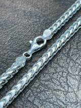 """Solid 925 Sterling Silver Franco Chain 5mm Thick Hip Hop Mens Necklace 18-30"""""""