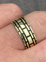 Real 14k Gold & Solid 925 Sterling Silver Mens Plain Ring Wedding Band Size 7-13