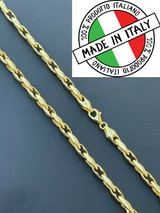 14k Gold Over 925 Silver 5mm Custom Anchor Rolo Link Chain Necklace Or Bracelet