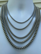 """Men's Franco Chain Stainless Steel Necklace BEST QUALITY! 18-30"""" 3-8mm HEAVY!"""