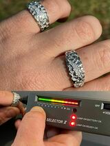 Mens REAL Solid 925 Silver Nugget Band Ring Iced Moissanite Pass Diamond Tester