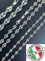 925 Sterling Silver Puffed Gucci Mariner Link Chain Necklace Or Bracelet 6-12mm