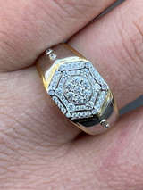 Mens 14k Gold & Real Solid 925 Silver Diamond RING Size 6 7 8 9 10 11 12 13 ICED