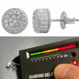Real 925 Silver Round Earrings 2.6ct Moissanite Passes Diamond Tester Studs Iced