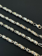 """Custom Handmade Solid 925 Sterling Silver Nugget Link Chain Necklace 5mm 18-30"""""""