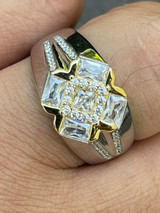 Men's Iced Real Solid 925 Silver Hip Hop Diamond RING Size 6 7 8 9 10 11 12 13