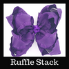 Ruffle Stack Hairbows By Size