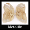 Metallic Hairbows By Size