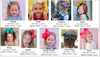 Hairbow Sizes on Models
