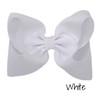 White Glitter Grosgrain