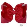 Red Glitter Grosgrain