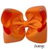 Orange Glitter Grosgrain