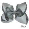Silver Glitter Grosgrain Stack