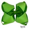 Apple Glitter Grosgrain Stack