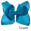 Turquoise Glitter Grosgrain Stack