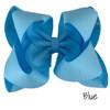 Blue Glitter Grosgrain Stack