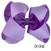 Light Orchid Glitter Grosgrain Stack
