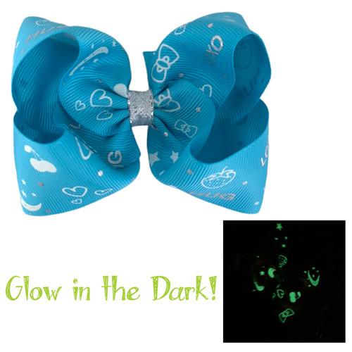 Mystic Blue Glow Bow
