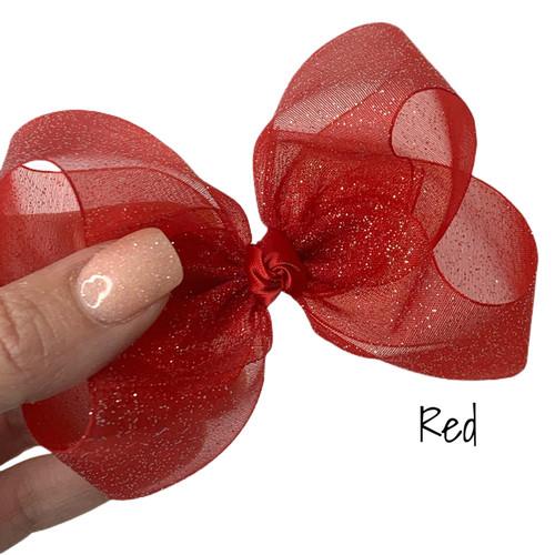 Red  Glitter Sheer