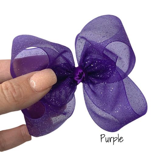 Purple Glitter Sheer