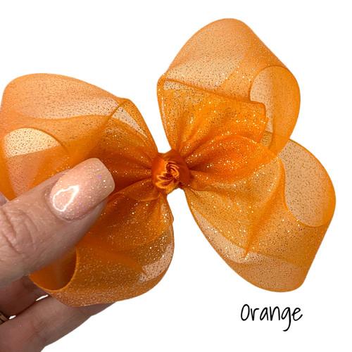 Orange Glitter Sheer