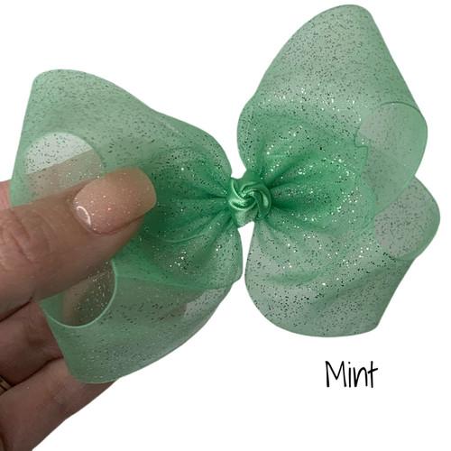 Mint Glitter Sheer