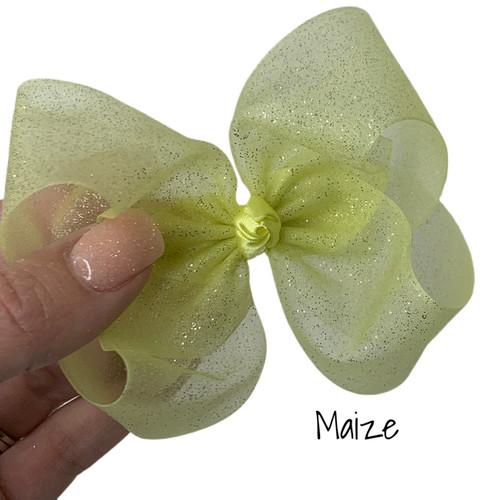 Maize Glitter Sheer