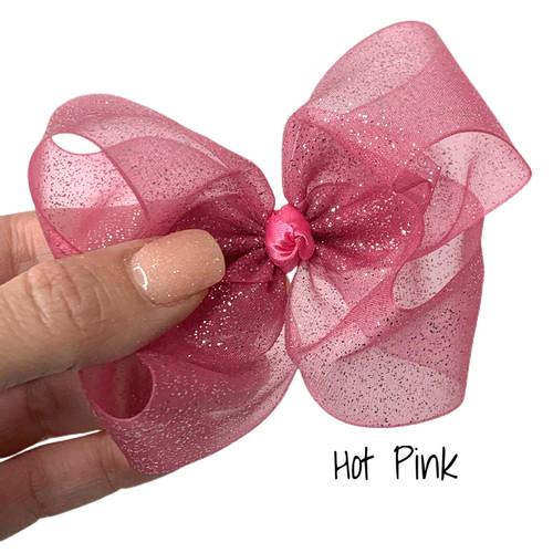 Hot Pink Glitter Sheer