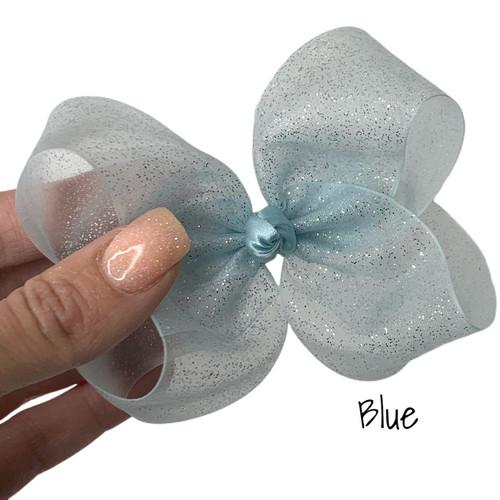 Blue Glitter Sheer