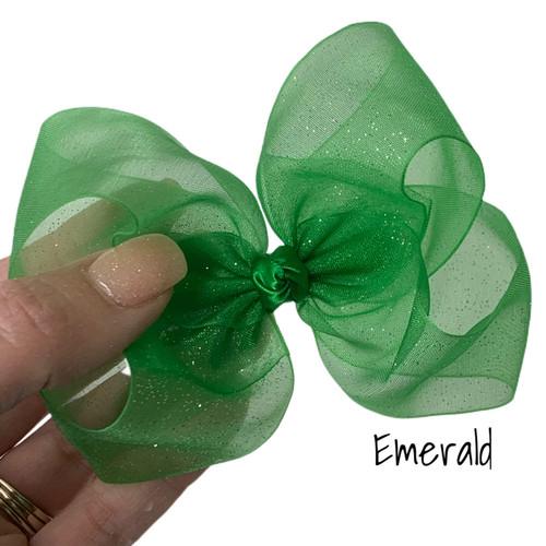 Emerald Glitter Sheer