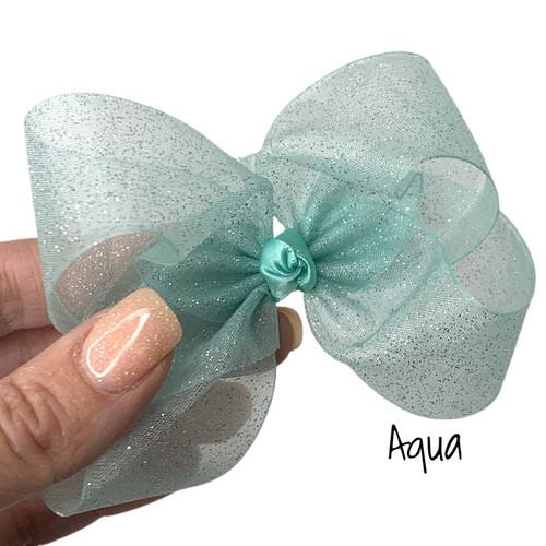 Aqua Glitter Sheer