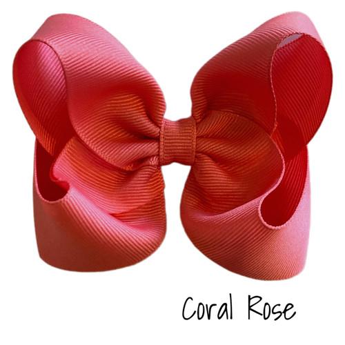 Coral Rose Classic Grosgrain
