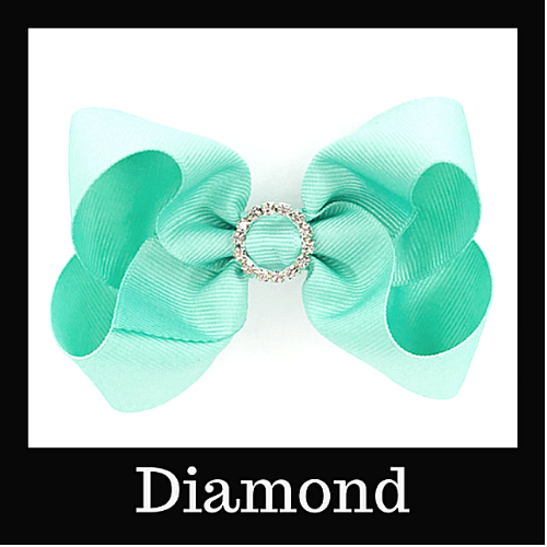 Diamond Hairbows By Size