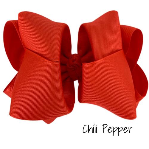 Chili Pepper Grosgrain Stack